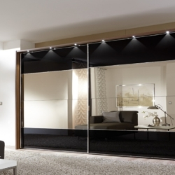 Built In Wardrobe Sliding Doors Sliding Door Wardrobe With Mirror within Stanley Mirrored Wardrobe Sliding Doors K6K4